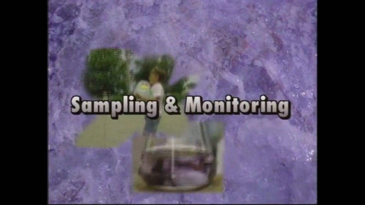 Before You Begin...Sampling and Monitoring