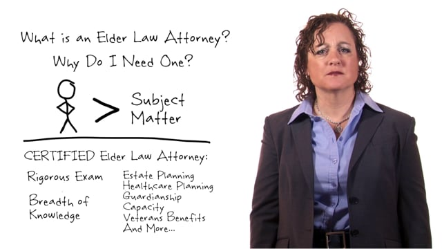 What is an Elder Law Attorney video thumbnail