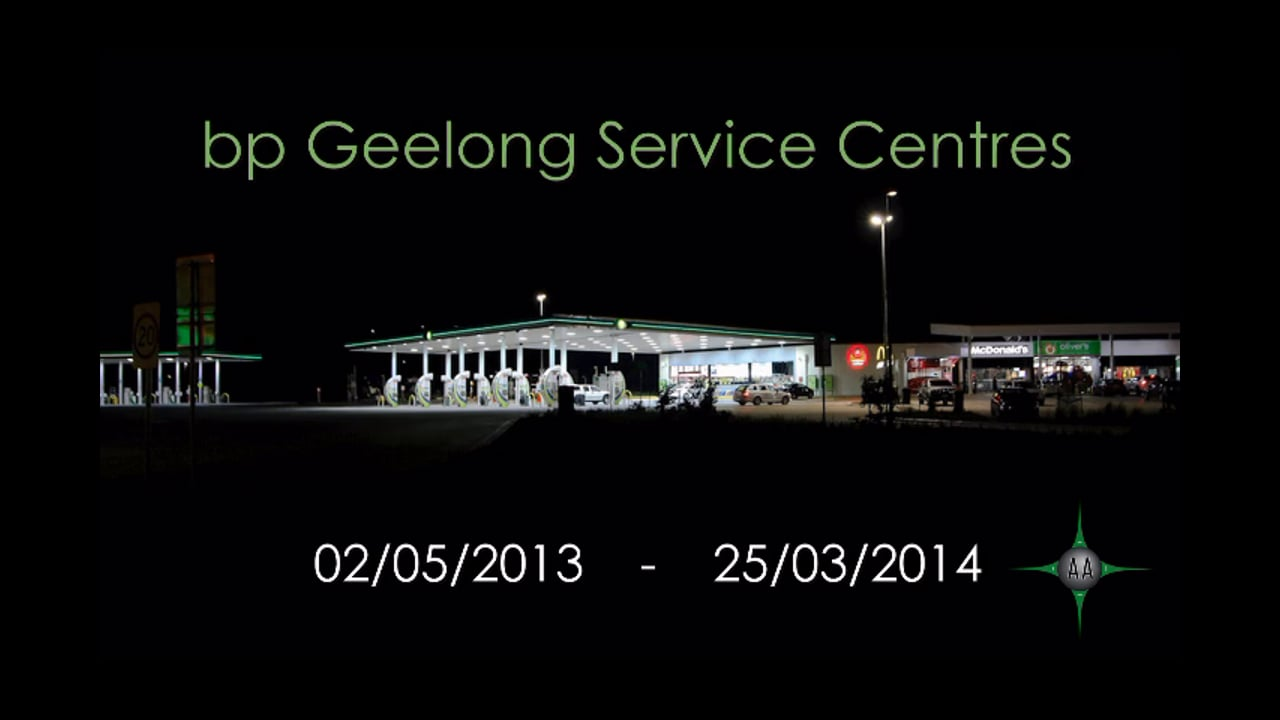 AA BP Gelong Service Centres Northbound Southbound construction photo slide show