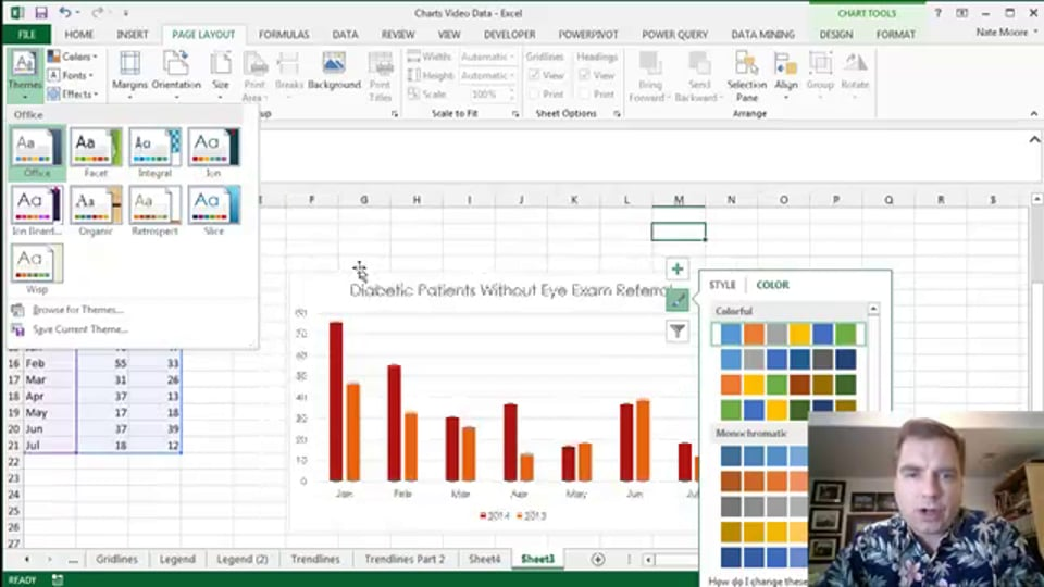 Excel Video 457 Chart Styles Part 2