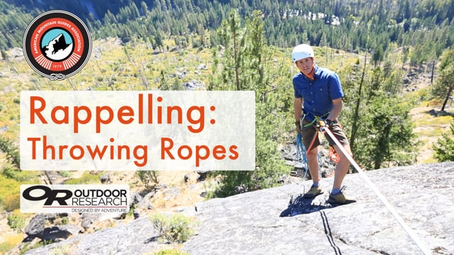 Rappelling Throwing Ropes from American Mountain Guides Assoc