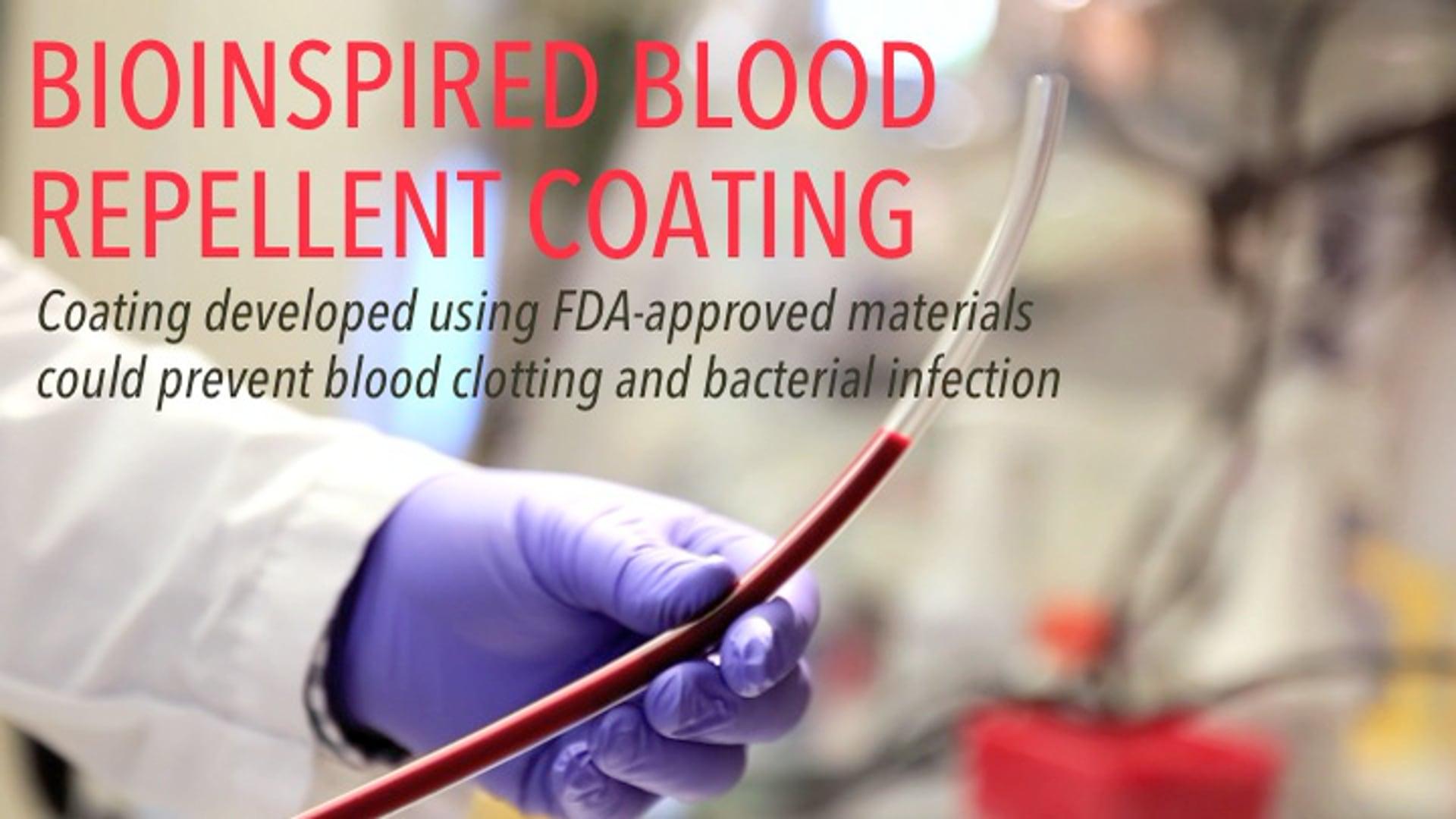 Bioinspired Blood Repellent Coating