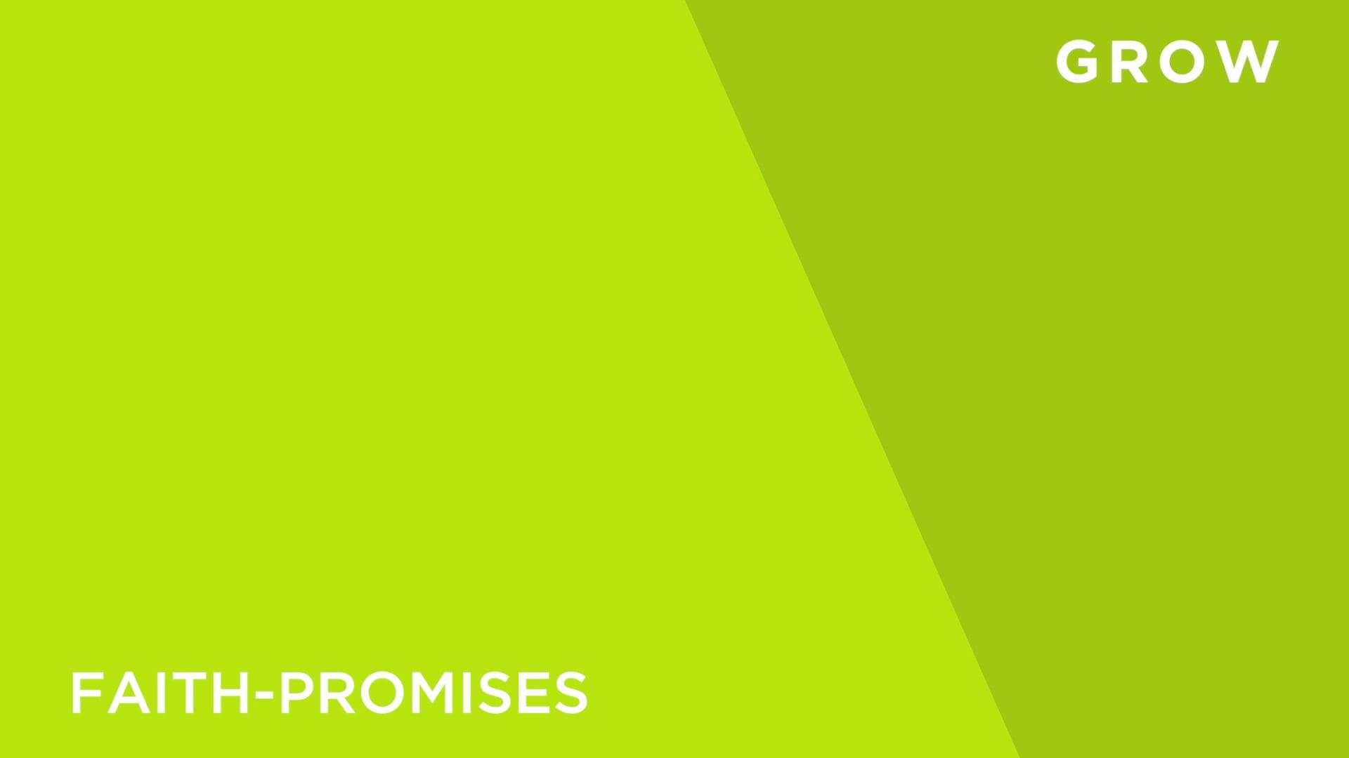 Faith [4] -Promises