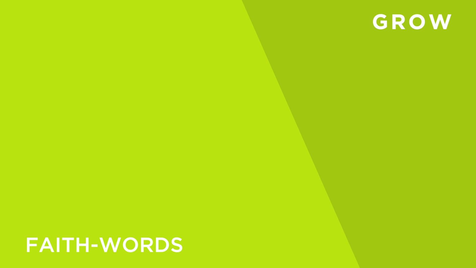 Faith [3] -Words