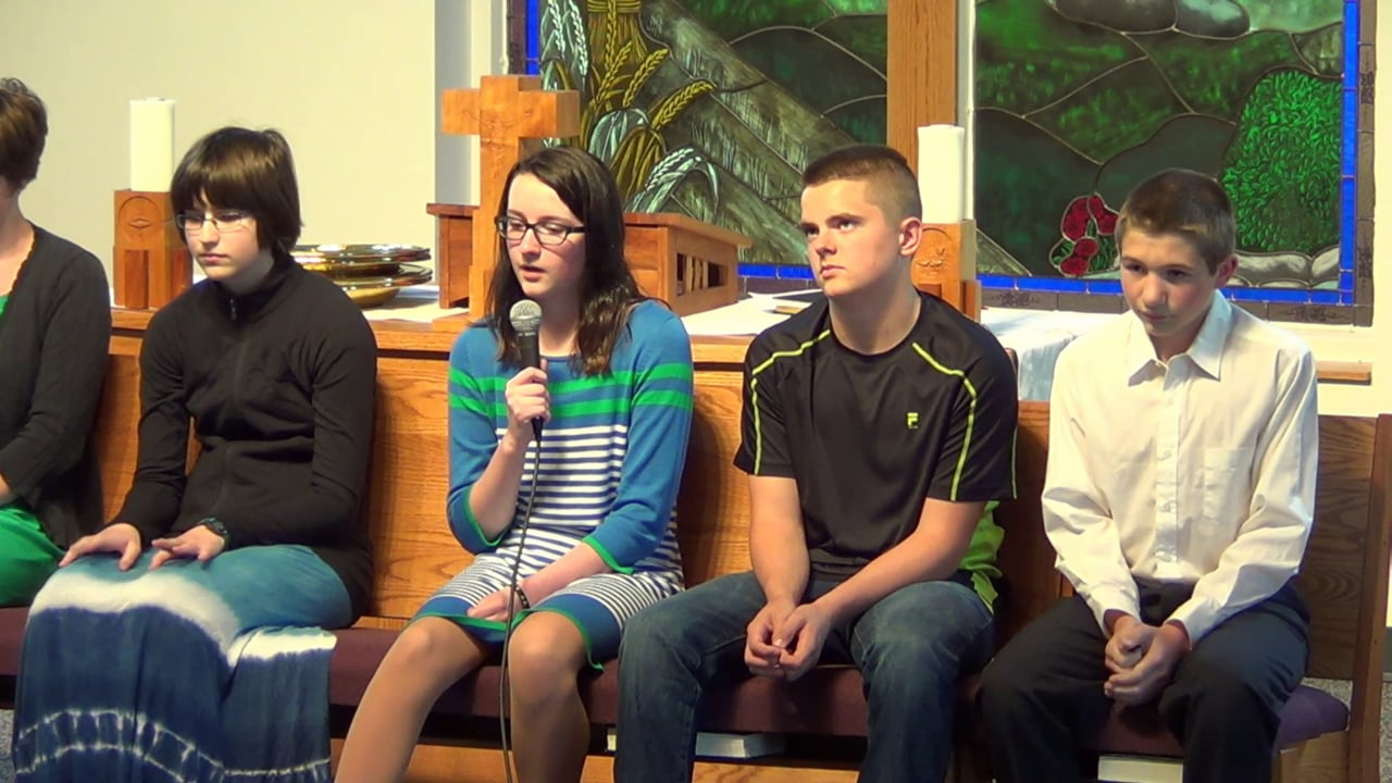 Peace Lutheran 2015 Confirmation Questioning
