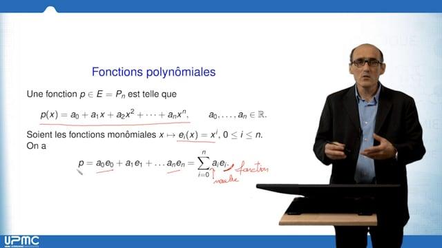 UPMC - Jussieu - SPOC Episode 4 Vers l'algèbre linéaire