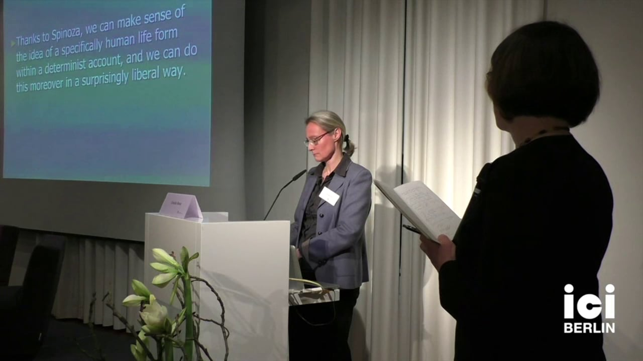 Discussion with Ursula Renz [2, 3]