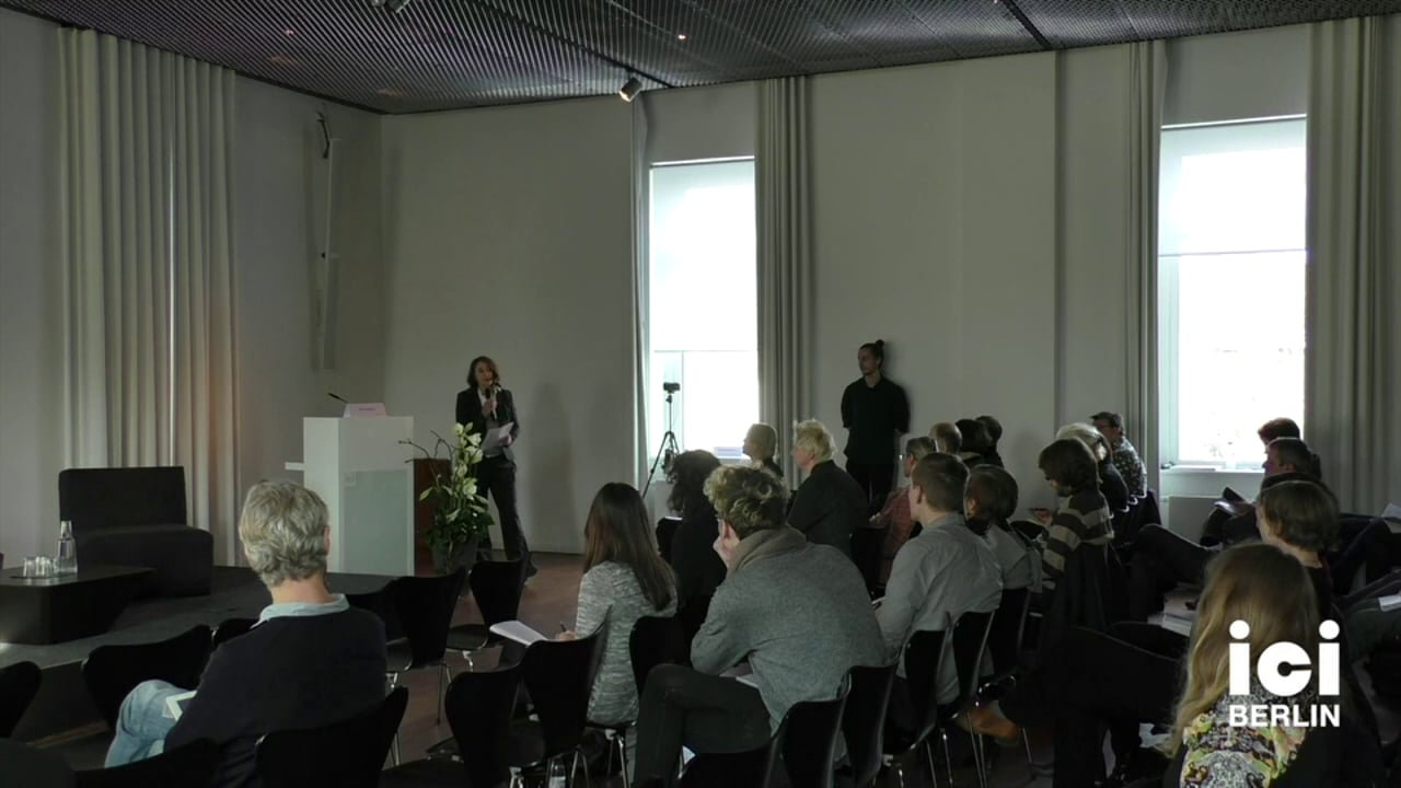 Introduction of Daniel C. Barber by Anna Tuschling [2, 1]