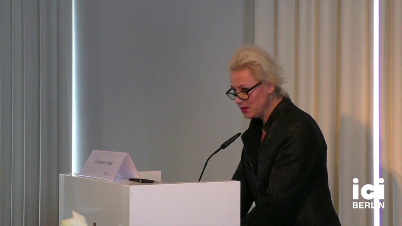 Talk by Christiane Voss [3, 2]
