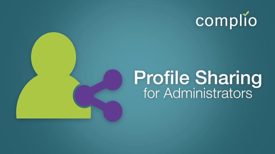 Complio Profile Sharing Admin