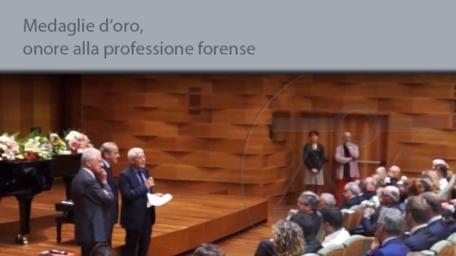 Medaglie d'oro, onore alla professione forense - 3/6/2015