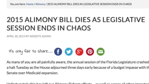 Florida Alimony Bill - Planning for 2016