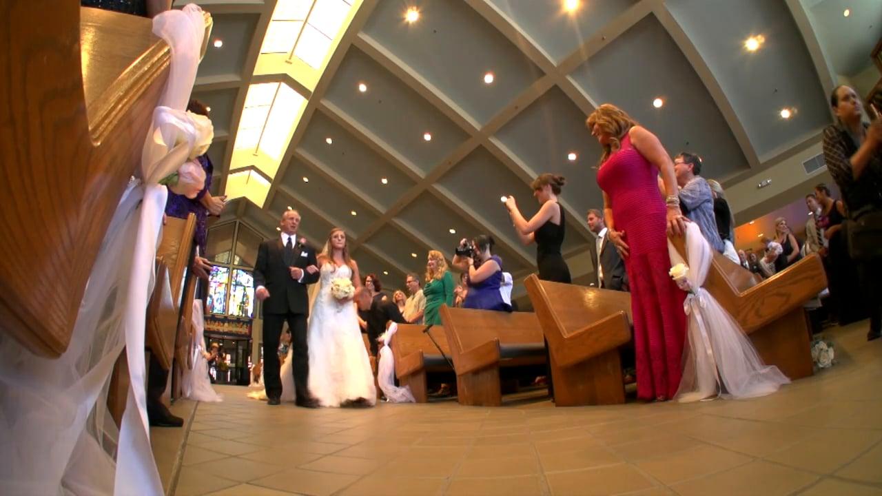 Michelle + David ~ Same Day Wedding Film & DVD Distribution at St. Anthony's Catholic Church & Padua Theatre