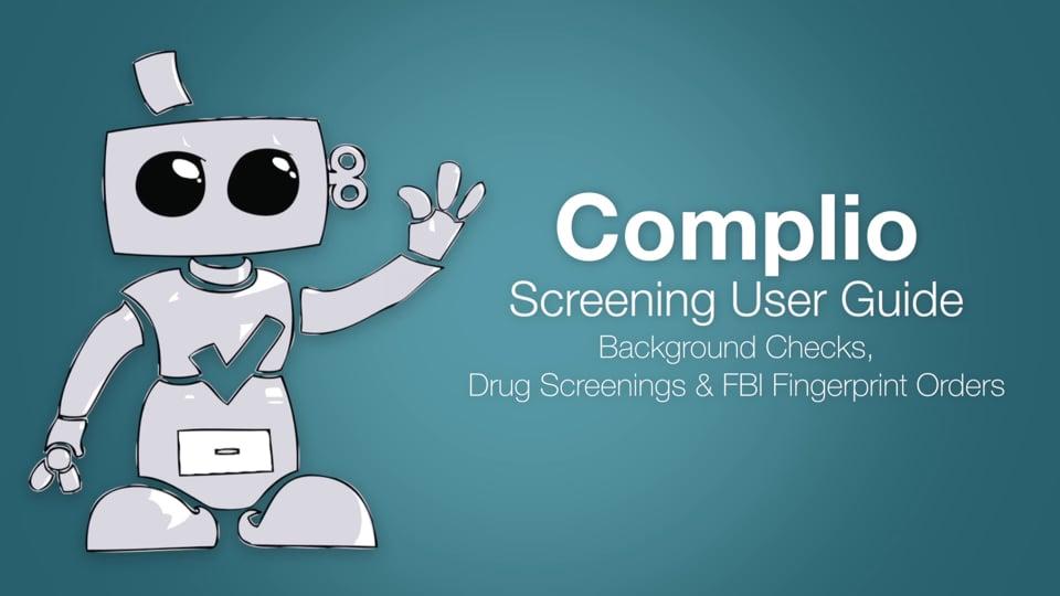 Complio Screening Users Guide
