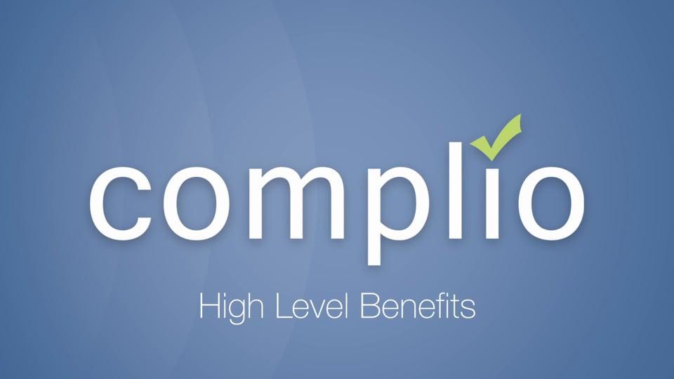Complio High Level Benefits