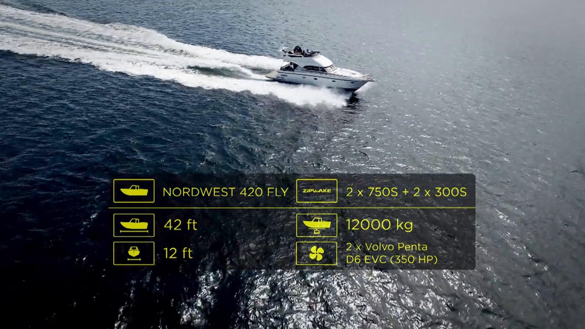 Zipwake Sea Trial NW 420 Flybridge