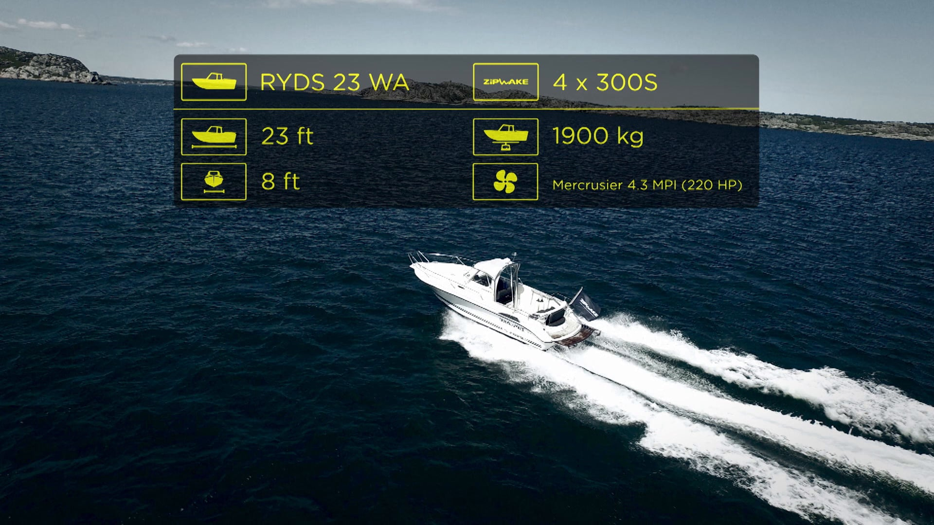 Zipwake Sea Trial Ryds 23WA