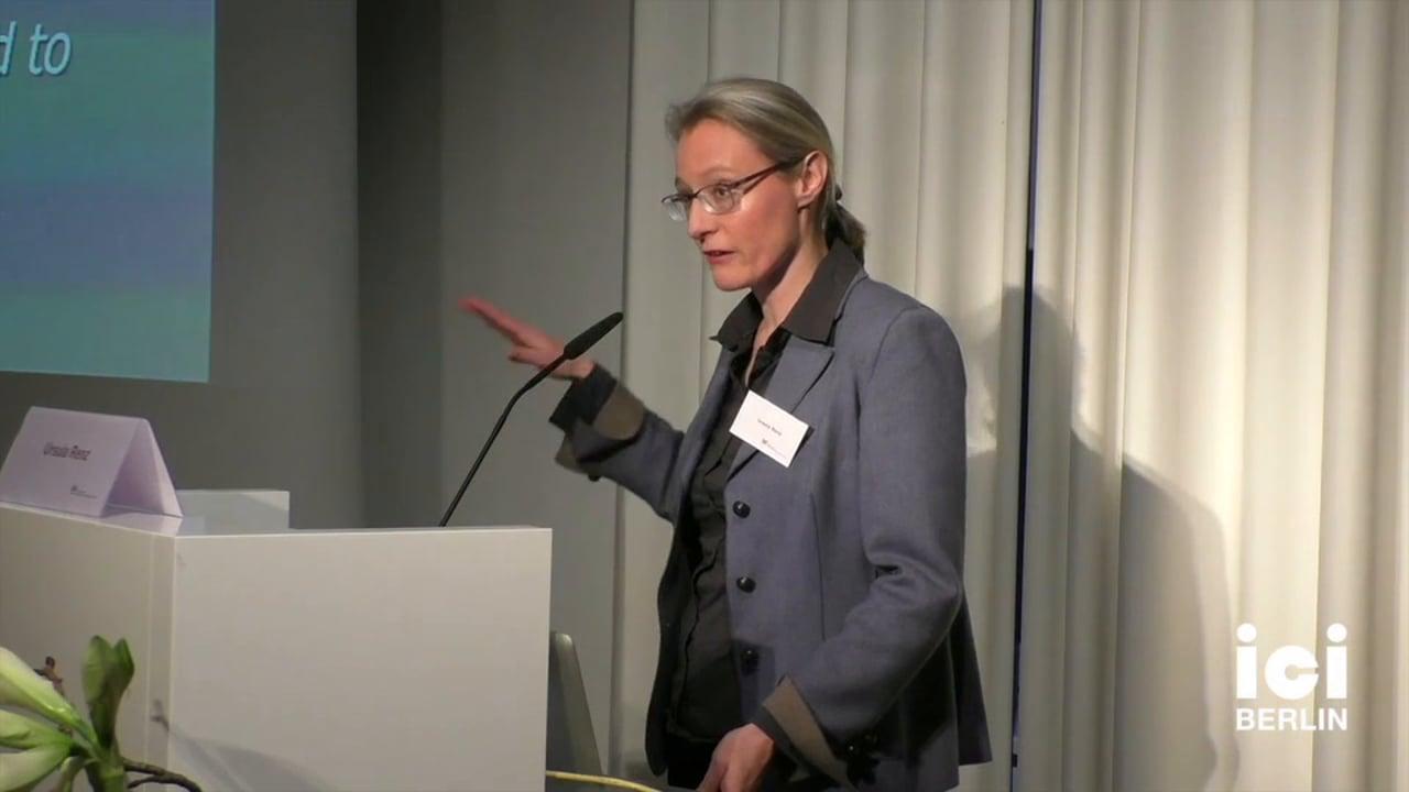 Talk by Ursula Renz [2, 2]