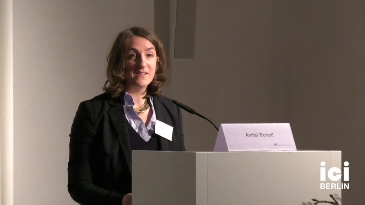 Introduction of Avital Ronell by Anna Tuschling [4, 1]