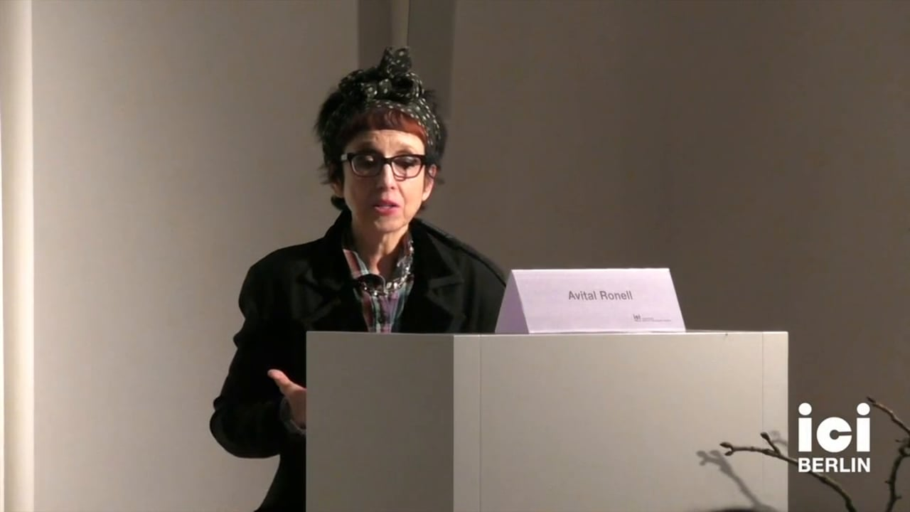 Discussion with Avital Ronell [4, 3]