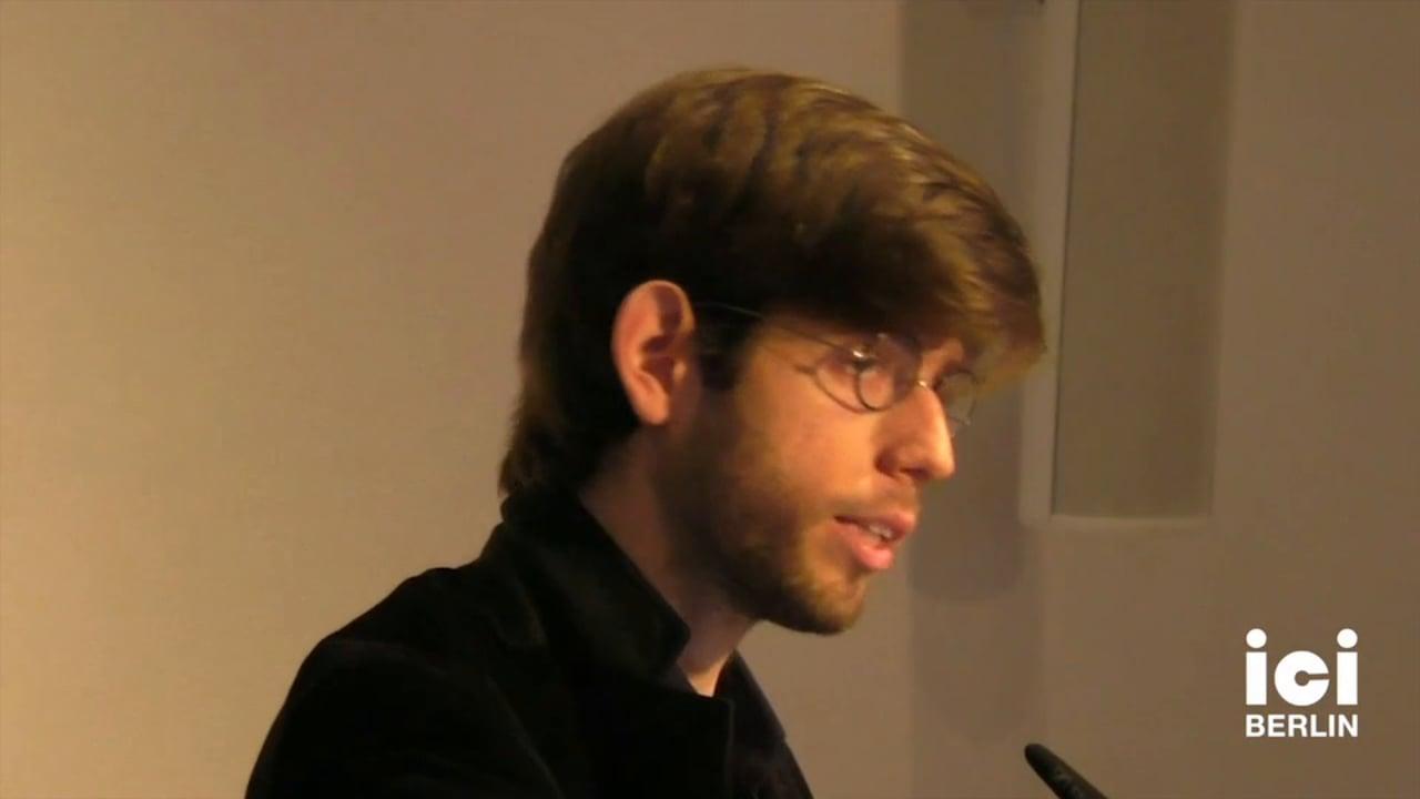 Talk by Nimrod Reitman [3, 2]