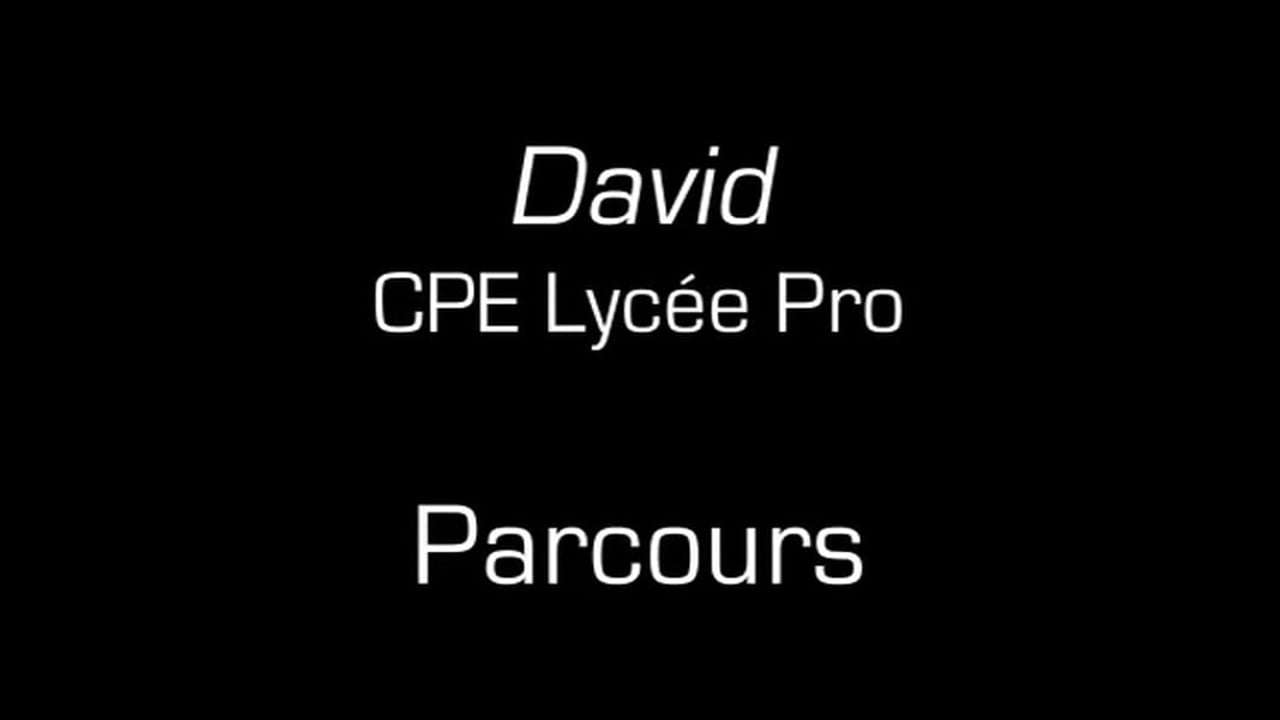 David / Parcours