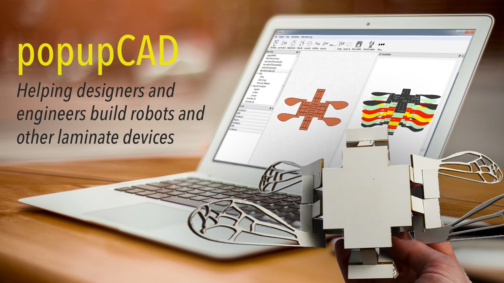 popupCAD: Helping designers and engineers build robots other laminate devices