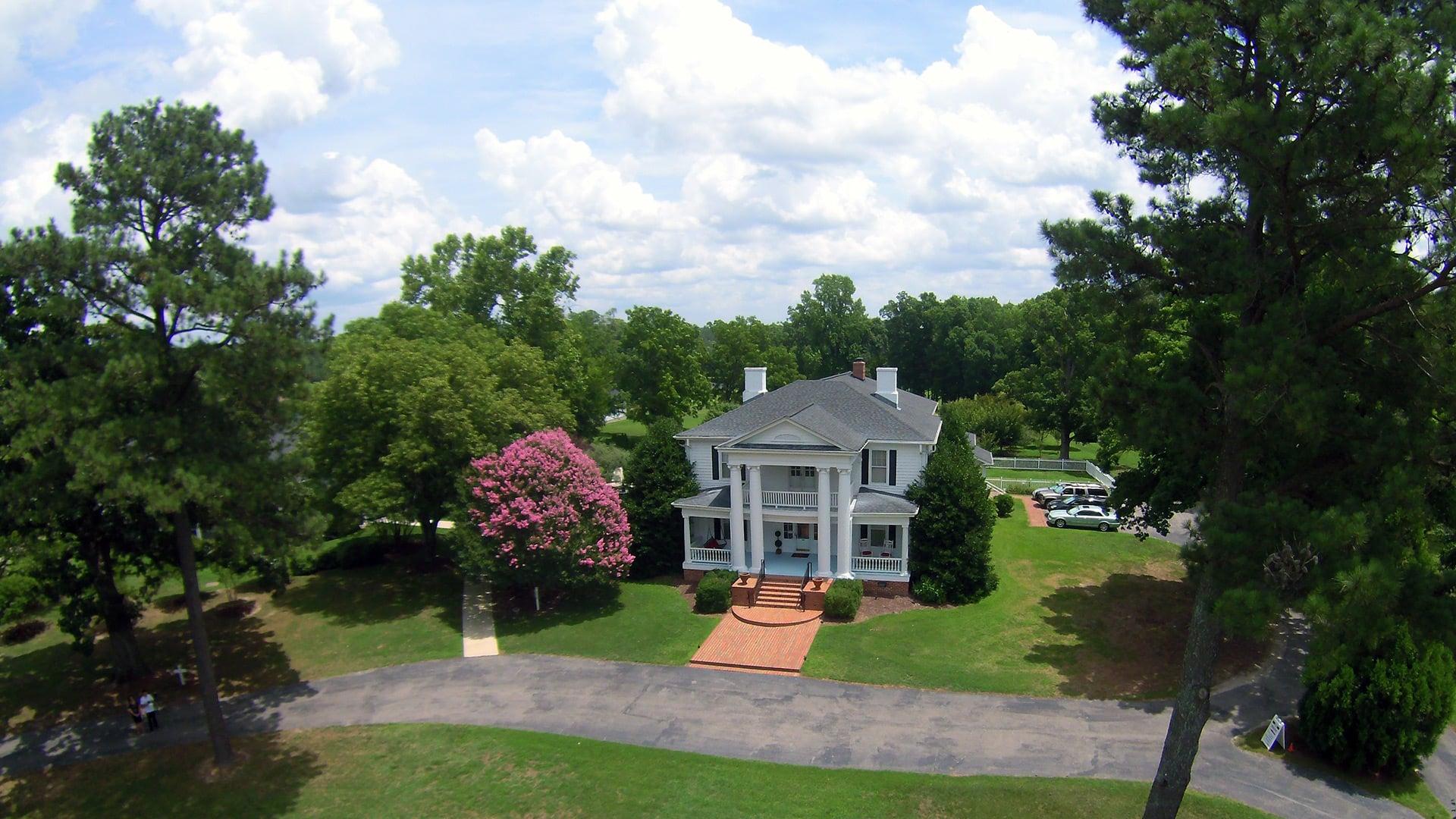 Aerial Tour of The Hudson Manor   Wedding + Event Venue   Louisburg, NC