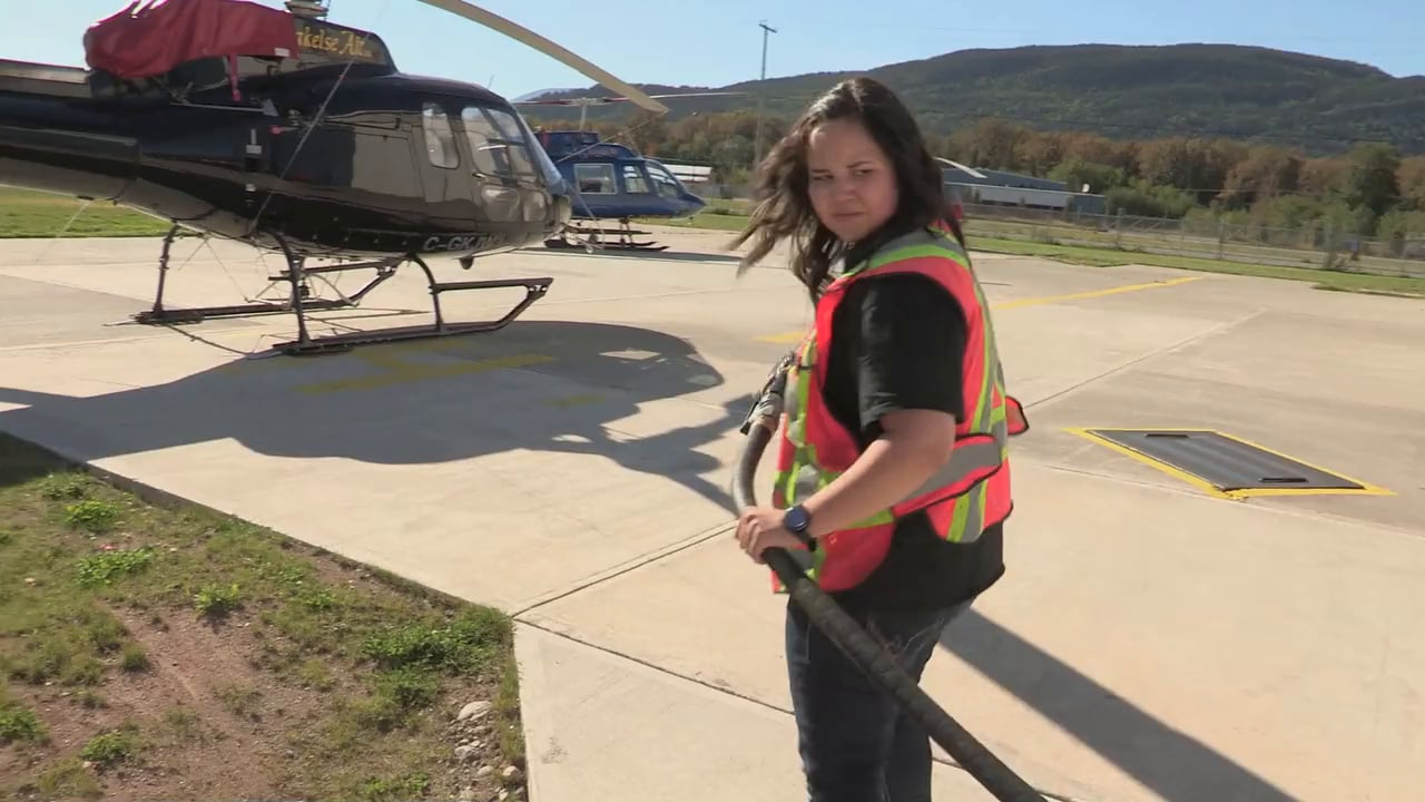 Brianna Quock, Helicopter Pilot, Stores Manager and Marketing, Careers in Transportation
