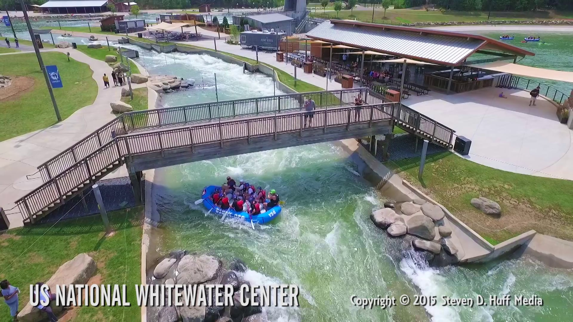 US National Whitewater Center - Aerial Video produced by Steve Huff Media