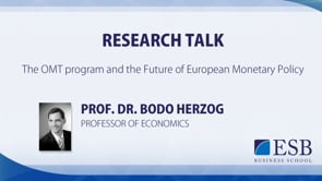 Research Talk: The OMT Programm & European Monetary Policy - Prof. Dr. Herzog