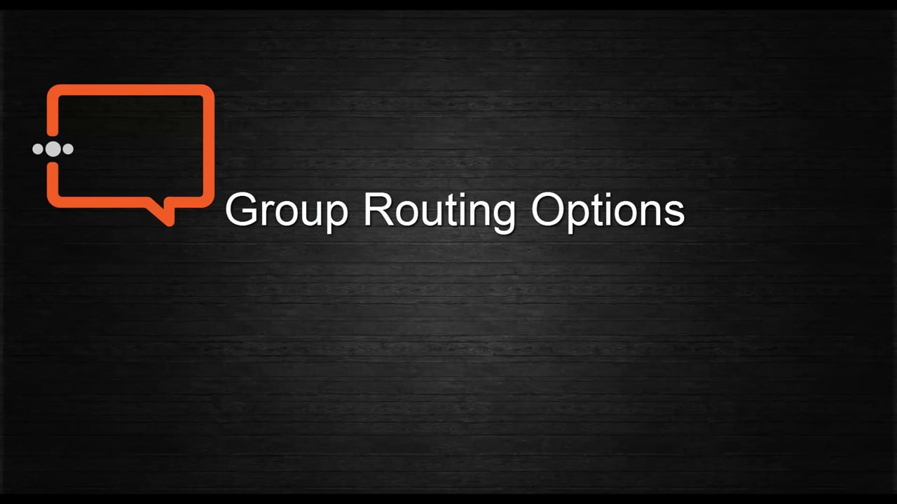 Group Routing Options