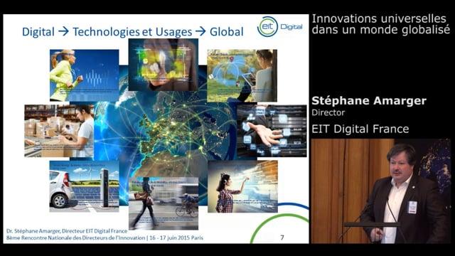 Dr Stéphane Amarger, Director EIT Digital France