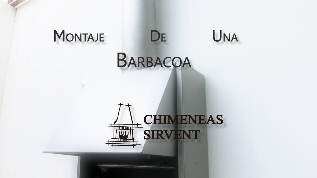 Vídeo para la empresa Chimeneas Sirvent, montaje de una barbacoa en casa de Rudy Fernández