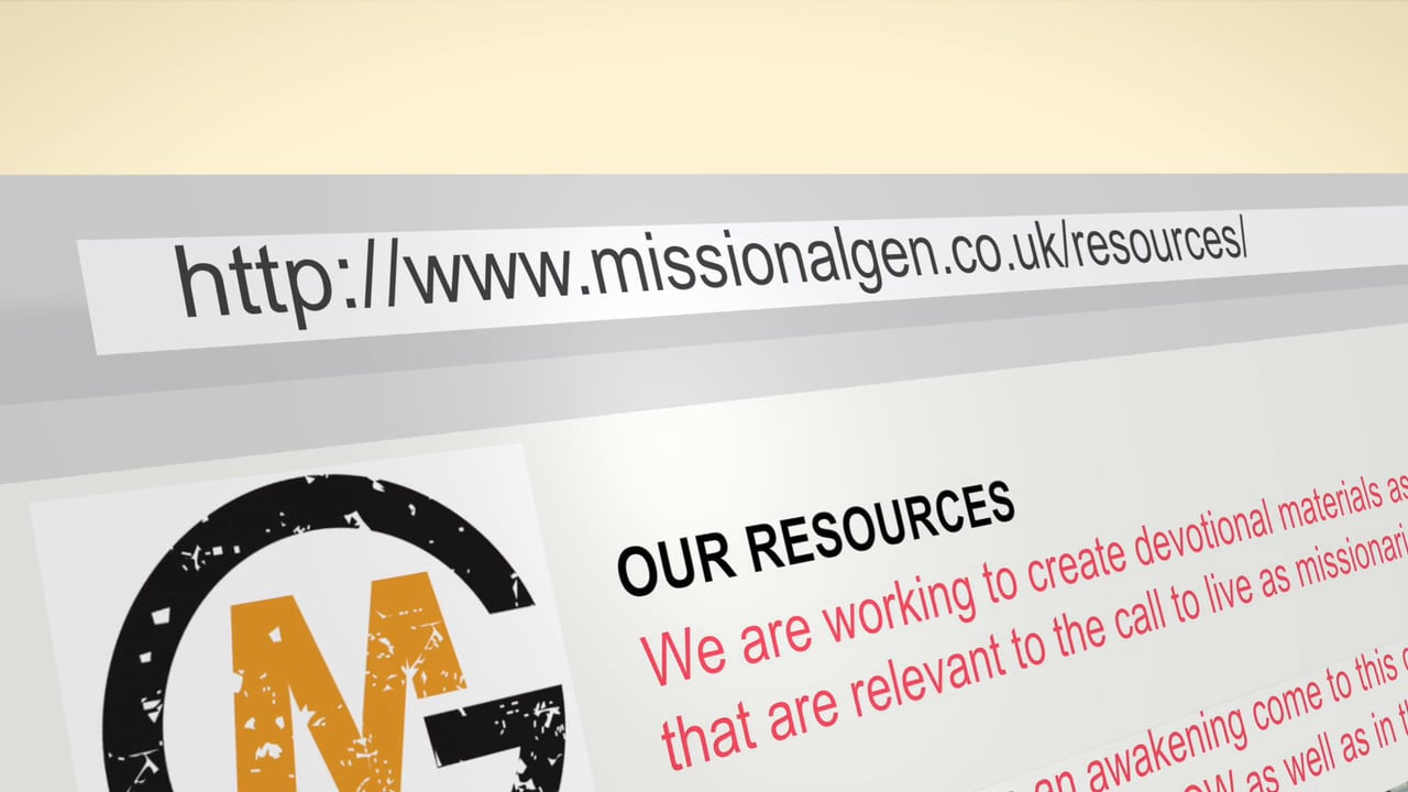 Missional Generation Video Resources Trailer