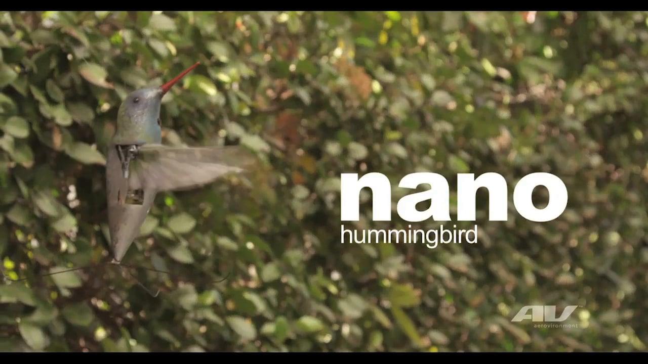 AeroVironment Nano Hummingbird – Indoor & Outdoor Flight Video