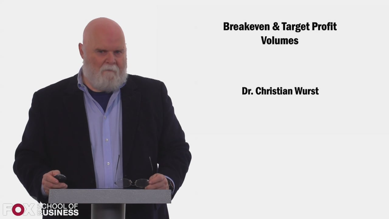 58425Breakeven and Target Profit Volumes