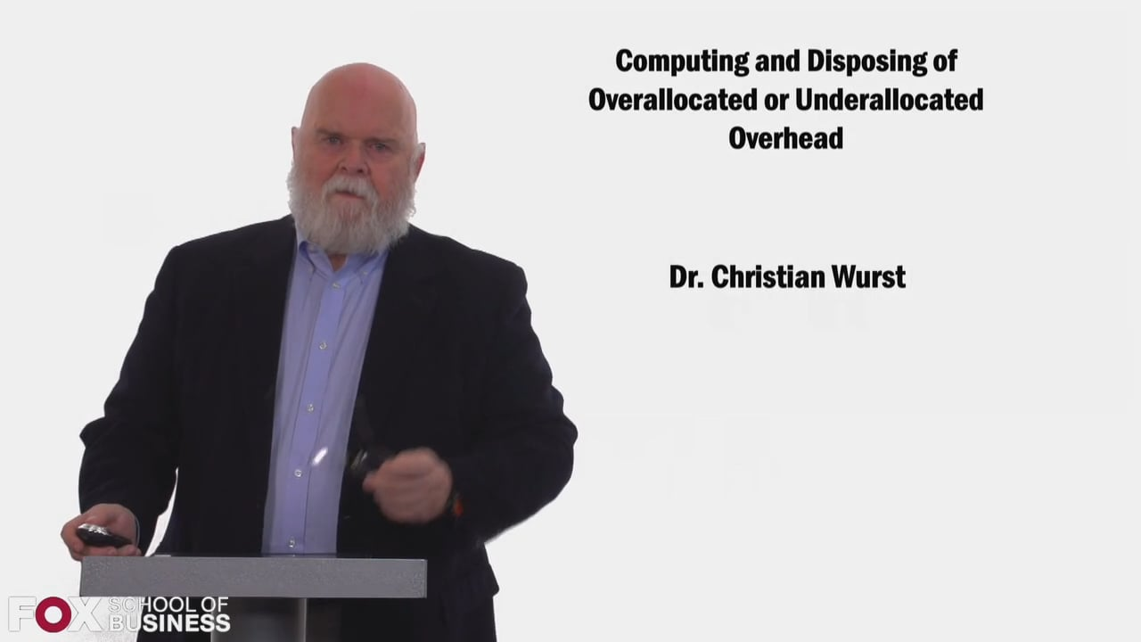 58433Computing and Disposing of Overallocated or Underallocated Overhead
