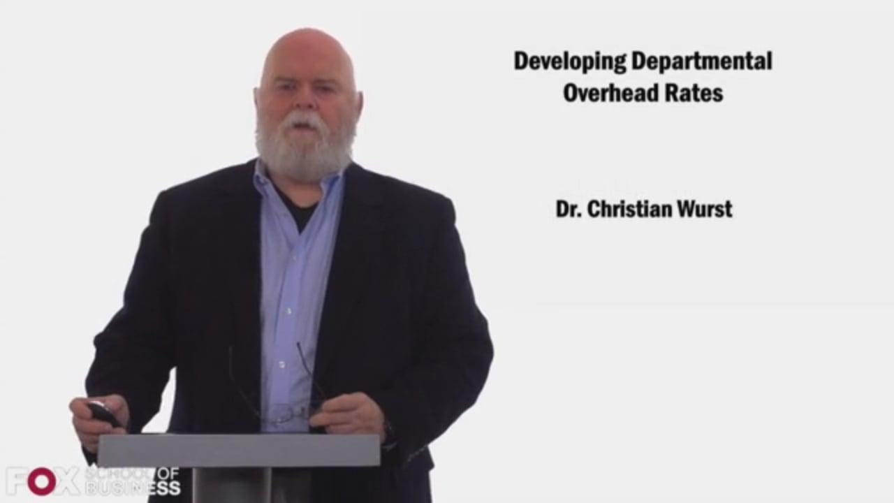 58439Developing Departmental Overhead Rates