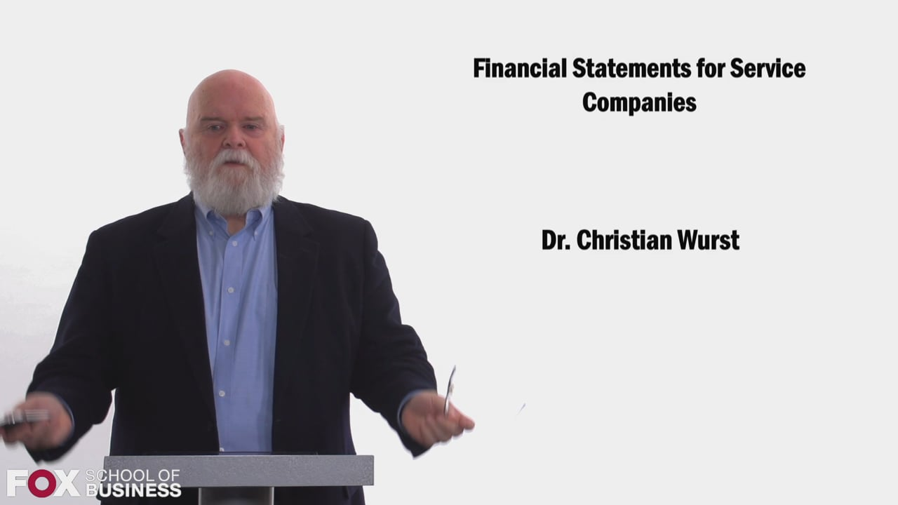 58447Financial Statements for Service Companies