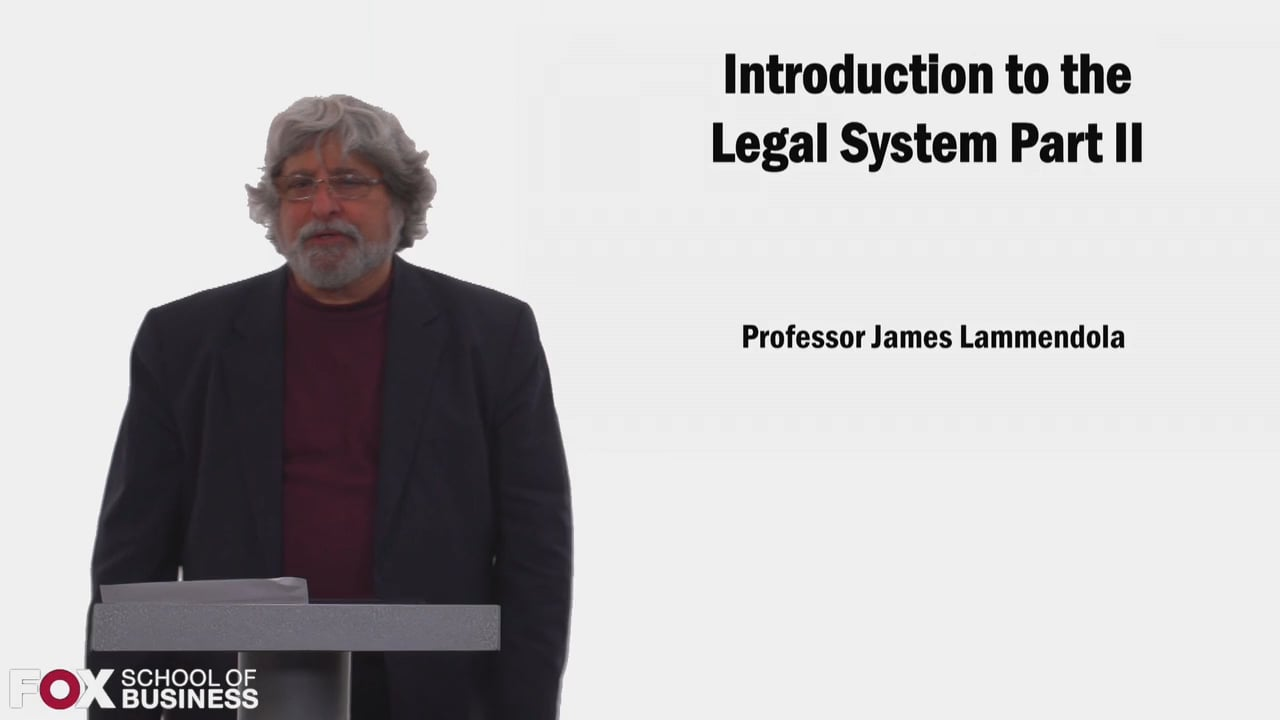 58525Introduction to the Legal System Part 2