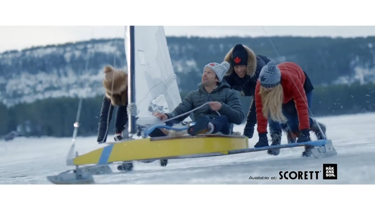 "Canada Snow ""ice sailing"""
