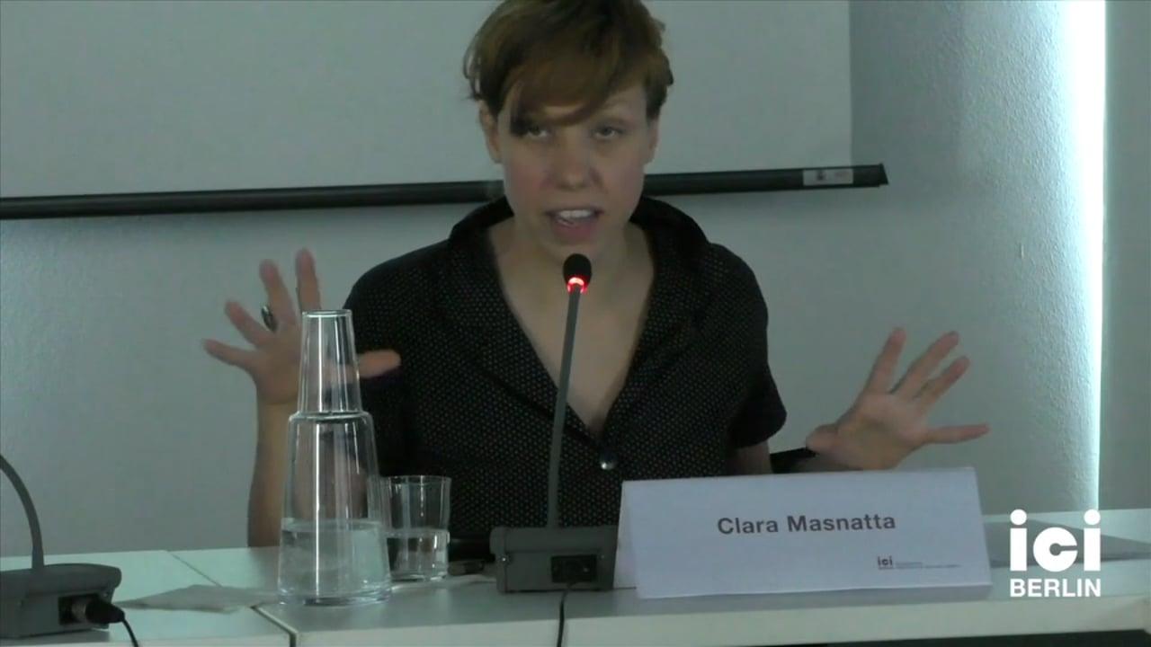 Talk by Clara Masnatta [Part 3, 2]