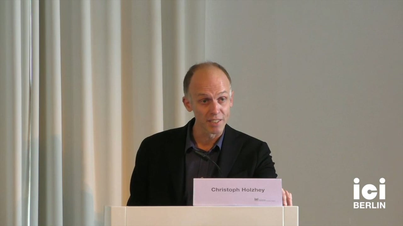 Introduction by Christoph Holzhey [Part 1, 1]