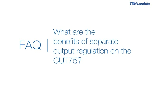 What are the benefits of separate output regulation on the CUT75 power supplies?