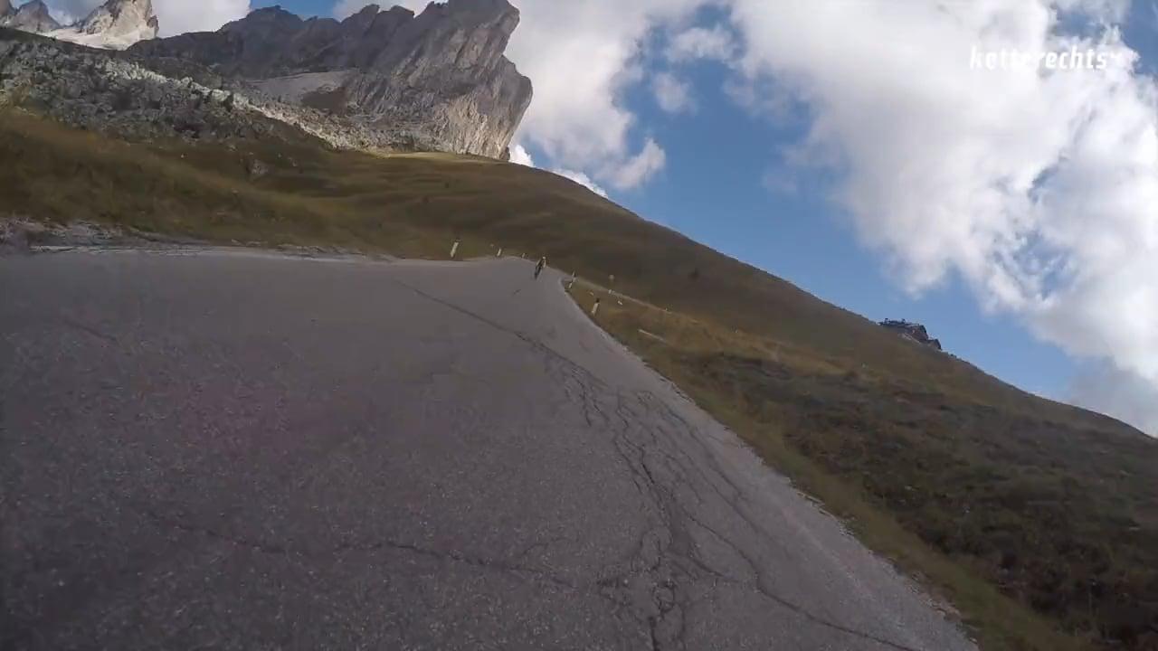 Descending Passo Giau/Dolomites