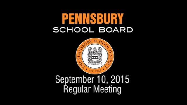 Pennsbury School Board Meeting for September 10, 2015