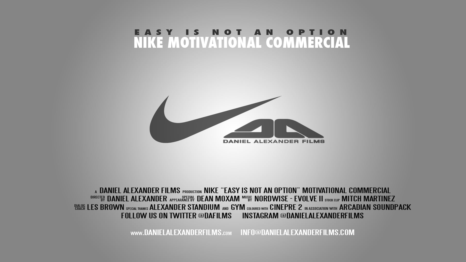 NIKE Motivational Commercial - Easy is not an option