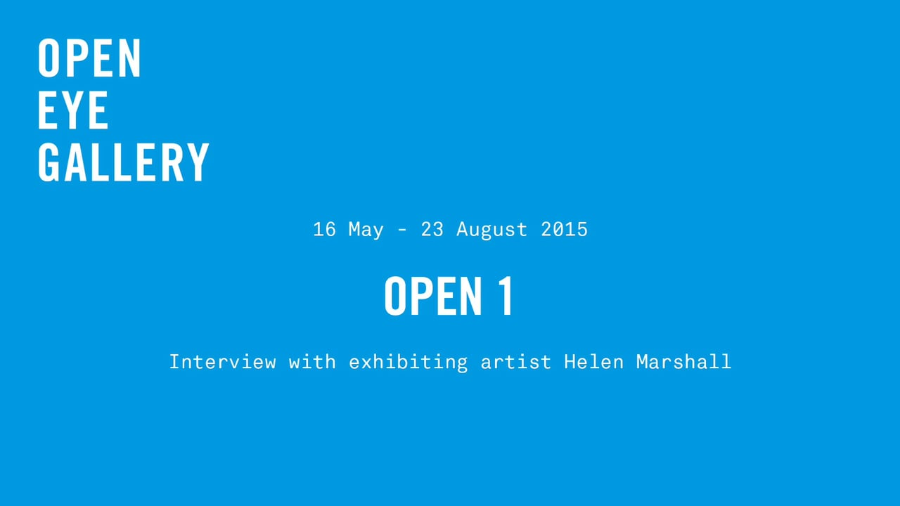 Open Eye Gallery - Project Tobong 2016 - Interview Helen Marshall