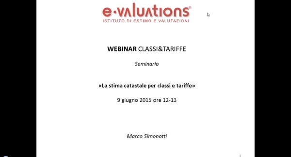 CLASSI E TARIFFE